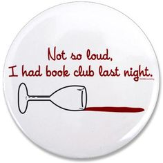 What happens at book club stays at book club . . . #fridayreads