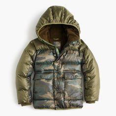 Boys' camo colorblock marshmallow puffer jacket