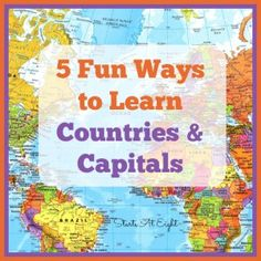 Geography Scavenger Hunt: North & Central America~ FREE Printable 5 Fun Ways to Learn Countries & Capitals from Starts At Fun Ways to Learn Countries & Capitals from Starts At Eight Teaching World Geography, Geography Activities, Geography For Kids, Teaching History, History Education, Geography Lesson Plans, Geography Worksheets, History Classroom, School Classroom
