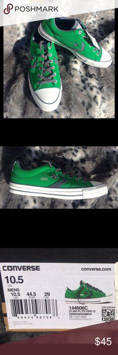 TODAY ONLY SALE ⬇️HTF/NWT Men's Converse Nice! Brand new Converse Star Player Pro in green with gray accents. Think holiday gifting for a fraction of retail! Includes box with no top. Converse Shoes Sneakers