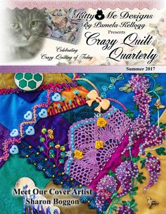 Crazy Quilt Stitches, Crazy Quilt Blocks, Crazy Quilting, Simple Embroidery, Embroidery Stitches, Embroidery Patterns, Hand Embroidery, Vintage Embroidery, Crazy Quilt Tutorials