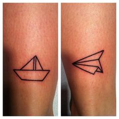 sailboat and plane tattoo - Google Search