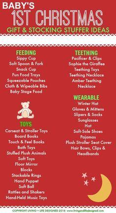 Baby's 1st Christmas Gift & Stocking Stuffer Ideas - #christmas #giftideas #babygiftideas #stocking #stockingstuffers