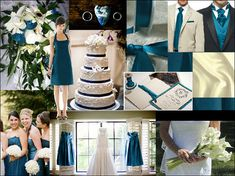 wedding colors - silver & teal