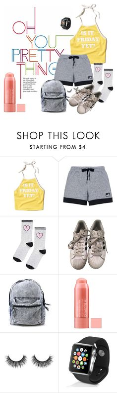 """""""Why Isn't It Friday Today?"""" by kkateyg on Polyvore featuring Hollister Co., adidas, Topshop and Apple"""