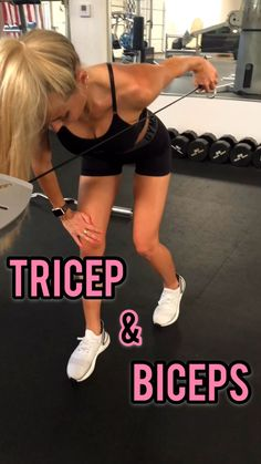 Biceps and tricep gym workout to get toned arms using weights cable machine dumbbells and weighted plates. This upper body focused workout will help you feel strong and sculpted. Bicep And Tricep Workout, Biceps And Triceps, Bicep Cable Workout, Cable Machine Workout, Get Toned, Toned Arms, Fitness Inspiration, Fitness Studio Training, Sport Fitness