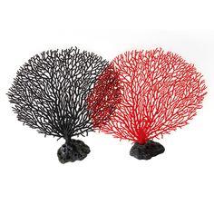 Simulation Plastic Coral Tree Aquarium FishTank Artificial Resin Decoration Soft Ornament Gift #Affiliate
