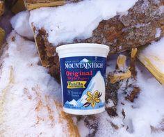 Mountain High Yoghurt in its natural habitat.