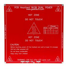 Geeetech RAMPS PCB Heatbed MK2B Dual Power 12/24V Hotbed Hot Plate Prusa Mendel 214mm*214mm*1.6mm