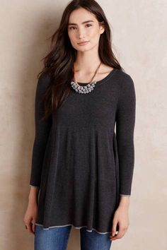 Ribbed Empire Tunic by Knitted & Knotted | Pinned by topista.com