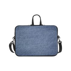 Blue jean texture design on this cool and funky case Laptop Handbags…