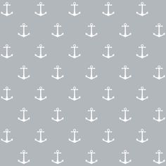 removable grey and white anchor wallpaper