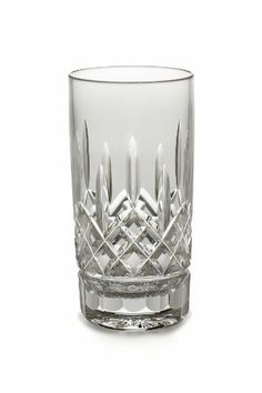 Waterford Lismore 12-Ounce Highball Tumbler by Waterford Crystal. $64.84. Material: crystal. Design: lismore. 12-ounce highball tumbler. The Waterford Lismore pattern is a stunning combination of brilliance and clarity. The slender design of the Lismore Straight Highball / Tall Beverage glass gives ice-cubes a musical note when they hit the sides. Ideal for serving long, cool cocktails and mixed drinks, the dramatic diamond and wedge cuts of the traditional Lismore pattern refr...