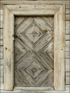 Lithuanian traditional door - photo by Gary Cook.
