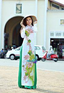 Amazon.com: ao dai vietnam vietnamese traditional dress: Arts, Crafts & Sewing