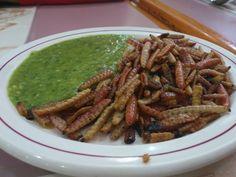 Crazy Food from Mexico  Maguey worms – Gusanos de maguey