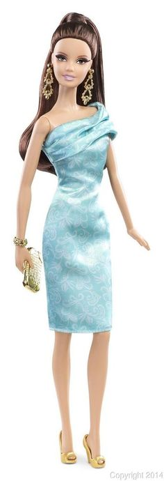 2014 Look Red Carpet GREEN DRESS Barbie Doll IN STOCK NOW!!! #Mattel #Dolls
