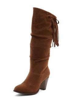 Rampage Ishamel High Heel Fringe Boot on HauteLook