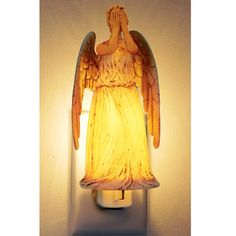Doctor Who: Weeping Angel Nightlight This Weeping Angel won't move when you look away (or blink!) and will light your way at night. It beams a soft light...especially helpful after a particulary scary episode of Doctor Who.