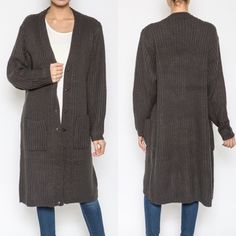 Jennifer Cardigan Brand new cardigan! Beautiful charcoal color. Celebrity trend for fall, oversized cardigans! Made of cotton material. Available in small/medium and medium/large. Please contact me for your own listing! Lewboutiquetwo Sweaters Cardigans