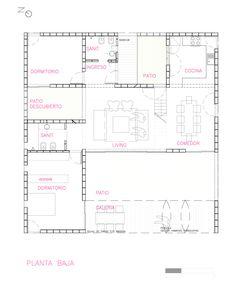 PRO.CRE.AR. PERROUD | AToT Arquitectos House Property, My House, Casa Top, Warehouse Design, Loft Studio, Concrete Houses, House Layouts, My Dream Home, House Plans