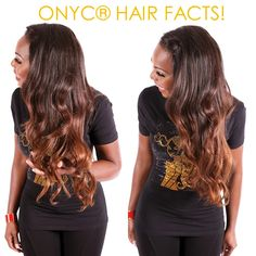 ONYC Hair Fact: If it CANNOT lift, it is NOT #Virginhair  YIKES, does your so called virgin #hair turn green, blue or some weird fake color when you try coloring it? Do your research and invest your money on a reputable company with proven track record. #ONYCHair Virgin hair is pure virgin hair and we GUARANTEE it!  This #onycbeauty is rocking our Indian virgin Body 2A #hair custom colored to #ombre    Shop>>>>ONYCHair.com