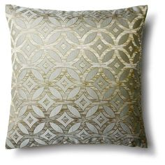 Check out this item at One Kings Lane! Elise 16x16 Pillow, Blue