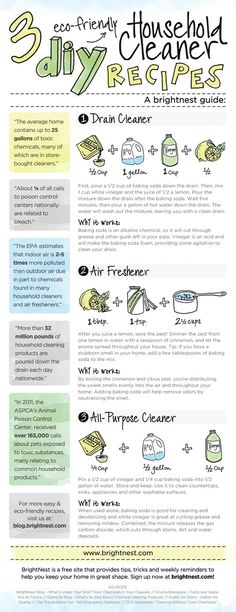 3 Eco Friendly DIY Cleaners....because spring cleaning is a must.