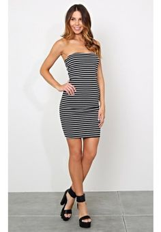 Layla Striped Midi Dress