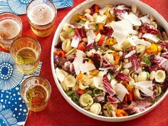 Take a break from your standard mayonnaise-laced fare this season and give Food Network's pasta salad recipes a try.