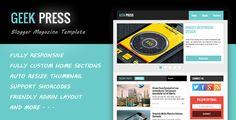 Geek Press - Responsive News & Magazine Blogger Template
