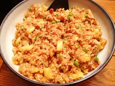Another favorite: Pineapple Fried Rice. Tangy and spicy. This recipe is from the Forks Over Knives cookbook for healthy vegan whole food dishes. Steve LOVES this dish.