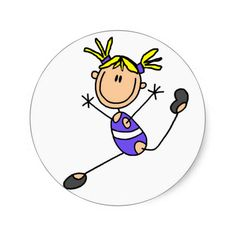 Blond Girl Gymnast Tshirts and Gifts Stickers