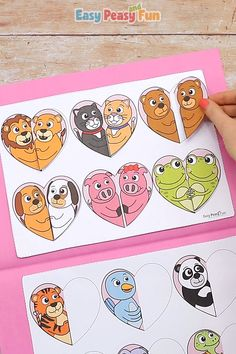This fun matching animal pairs file folder game is perfect for Valentines day theme. If your kids love matching games this file folder game is perfect for them. day crafts for girls Valentines Day Animal Pairs File Folder Game Toddler Learning Activities, Preschool Activities, Kids Learning, Valentine's Day Crafts For Kids, Art For Kids, File Folder Games, File Folders, Educational Games, Valentine's Day Diy