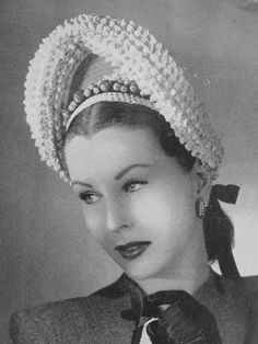 1940s Vintage Crochet PATTERN Unique French Knot Halo Hat and Handbag Crocheted Pattern PDF