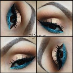 I love wearing my eye make up like this! gold and teal eye