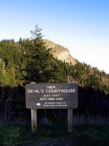 Blue Ridge Parkway North Carolina -DEVIL'S COURTHOUSE