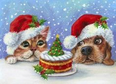 A Guide to Christmas Party Games Christmas Clipart, Vintage Christmas Cards, Christmas Greeting Cards, Christmas Printables, Christmas Greetings, Vintage Cards, Christmas Scenes, Christmas Animals, Christmas Cats