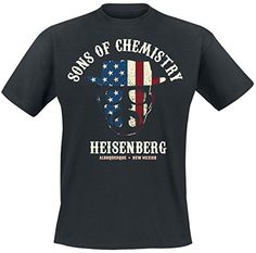 Breaking Bad - camiseta Sons of chemistry - estampado grande de Heisenberg - serie de televisión - algodón - negra #camiseta #friki #moda #regalo