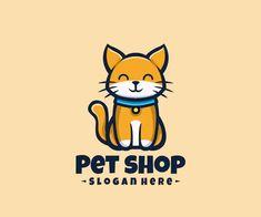 Cat Logo Icon Cat Logo, Great Logos, Patch Design, Animal Logo, Creative Logo, Logo Design Services, Pet Shop, Badge, Typography