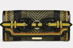 Burberry Prorsum's patterned clutch, an instant addition to our lust list.