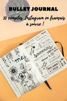 10 comptes Instagram sur le Bullet Journal en français à suivre - Avril sur un fil