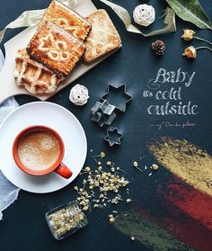"The colors of the season change every month and so does @cuordicarciofo's palette. See her December morning creations in ""Baby it's Cold Outside"" now featured on Steller.  #stellerstories #coffeetime #coffee by stellerstories"