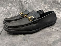 945b85073ec Mens Gucci Loafers Black Made In Italy Sz 9B 9 Narrow Worn Serviceable   fashion
