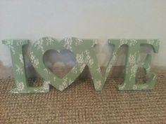 15cm love letters £12