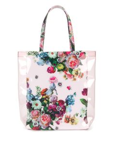 TAINCON - Floral printed shopper - Nude Pink | Womens | Ted Baker