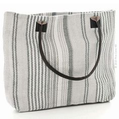 c1fa920a025f You ll never have a grey day with Dash  amp  Albert s Gradation Ticking tote