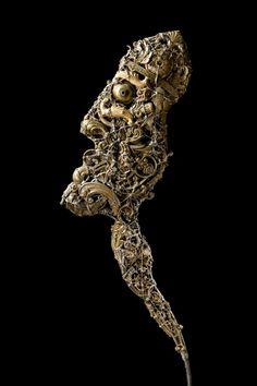 #Cardinal - (2010) 30x70 -  made with #copper #brass #bronze #art #sculpture #contemporaryart #metalart #religion