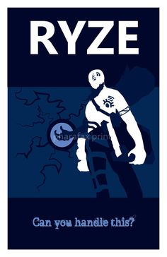 Ryze League of Legends Print by pharafax on Etsy, $16.00