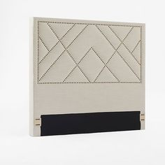 "Patterned Nailhead Headboard - Upholstered | west elm full size $299.99 Full: 57""w x 3""d x 56""h."